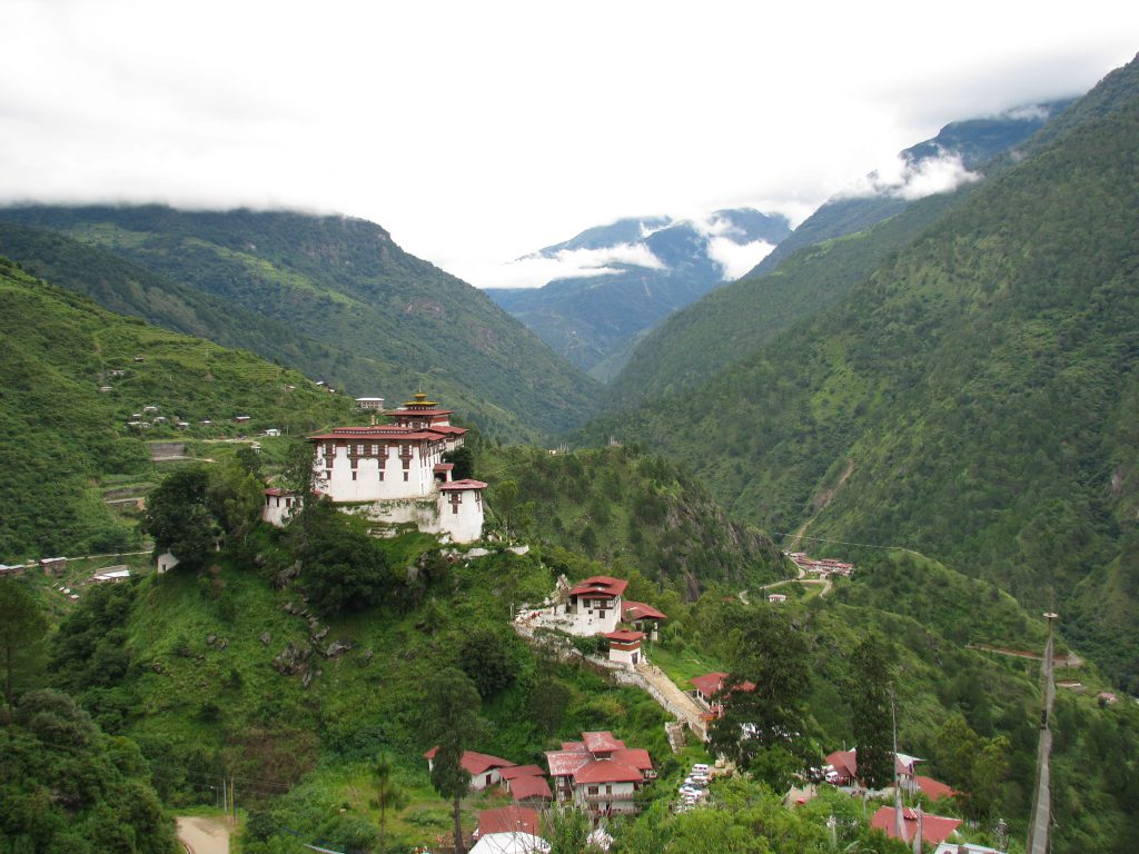 Lhuentse dzong and village, Bhutan travel guide