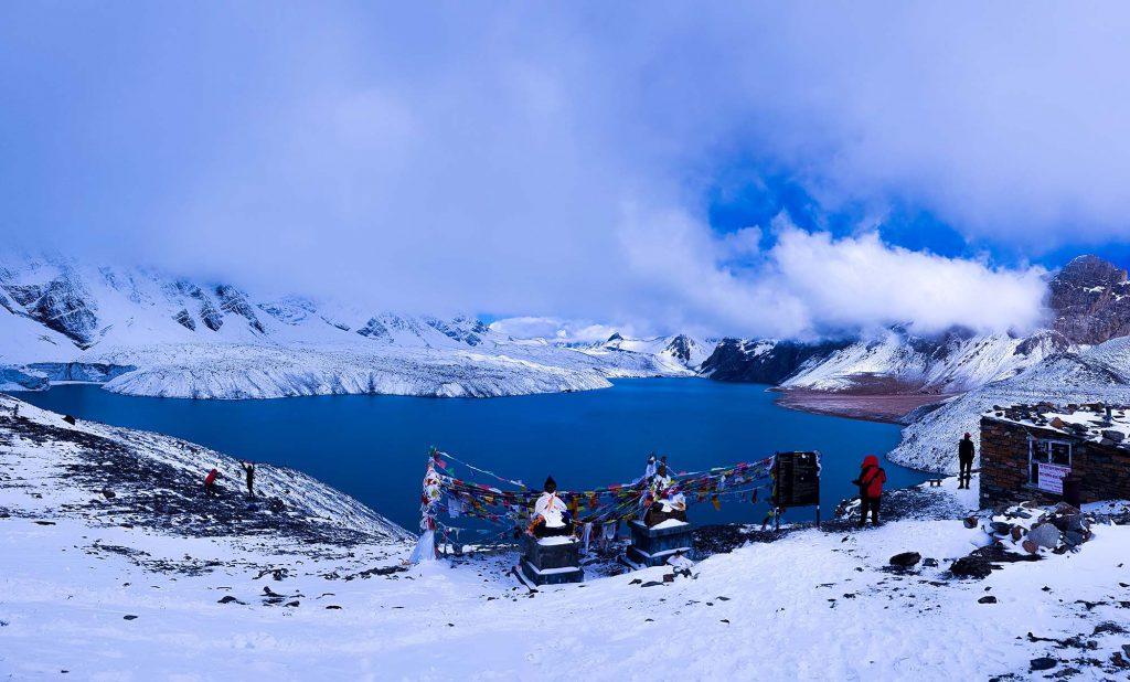 Ice Lake Annapurna Circuit trek Nepal