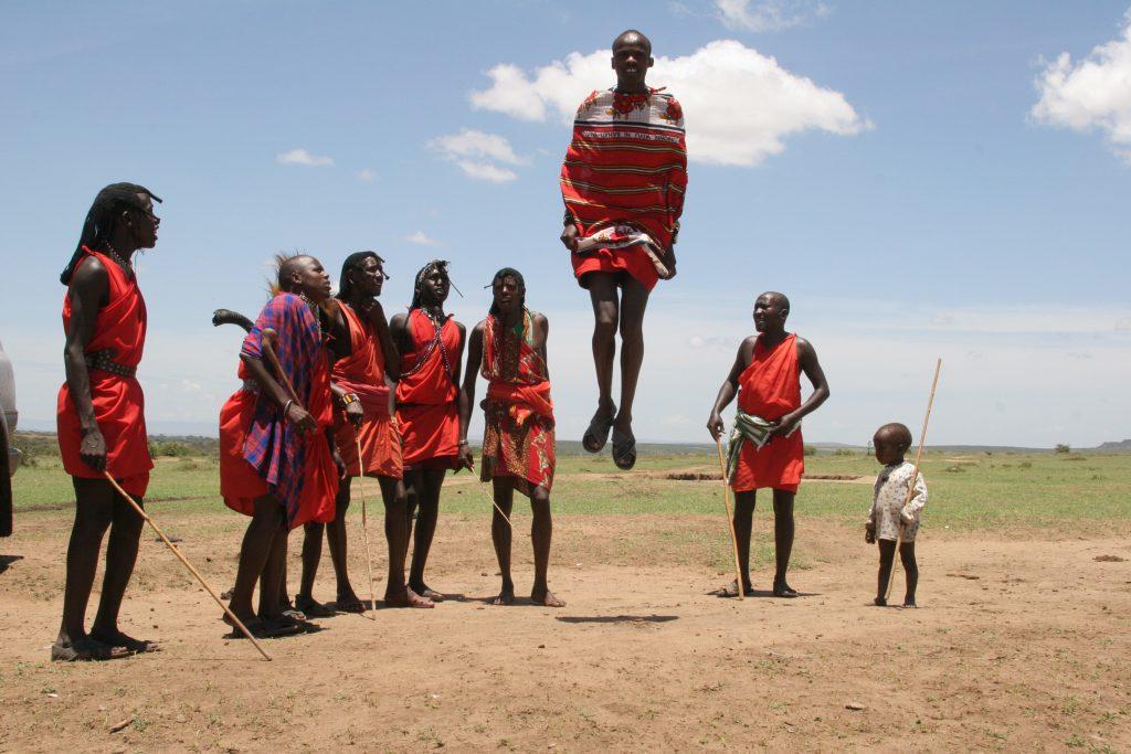 Maasai jumping dance Tanzania African safari