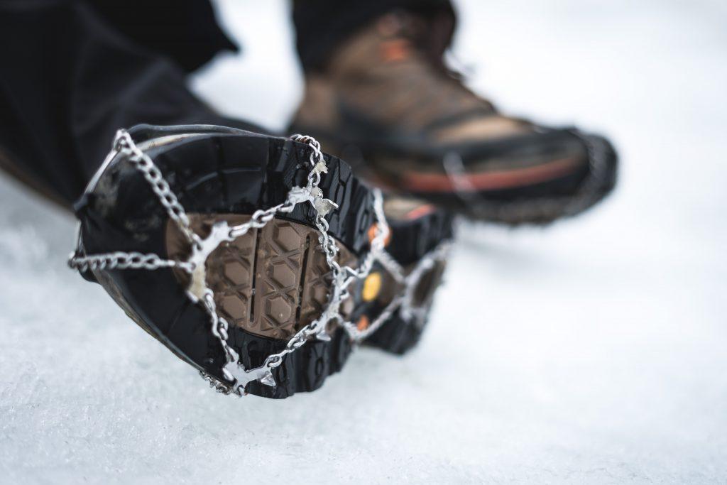 Hiking boots with crampons, Tanzania, Kilimanjaro