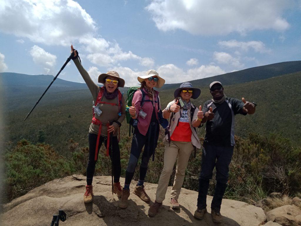 Friends celebrating Kilimanjaro