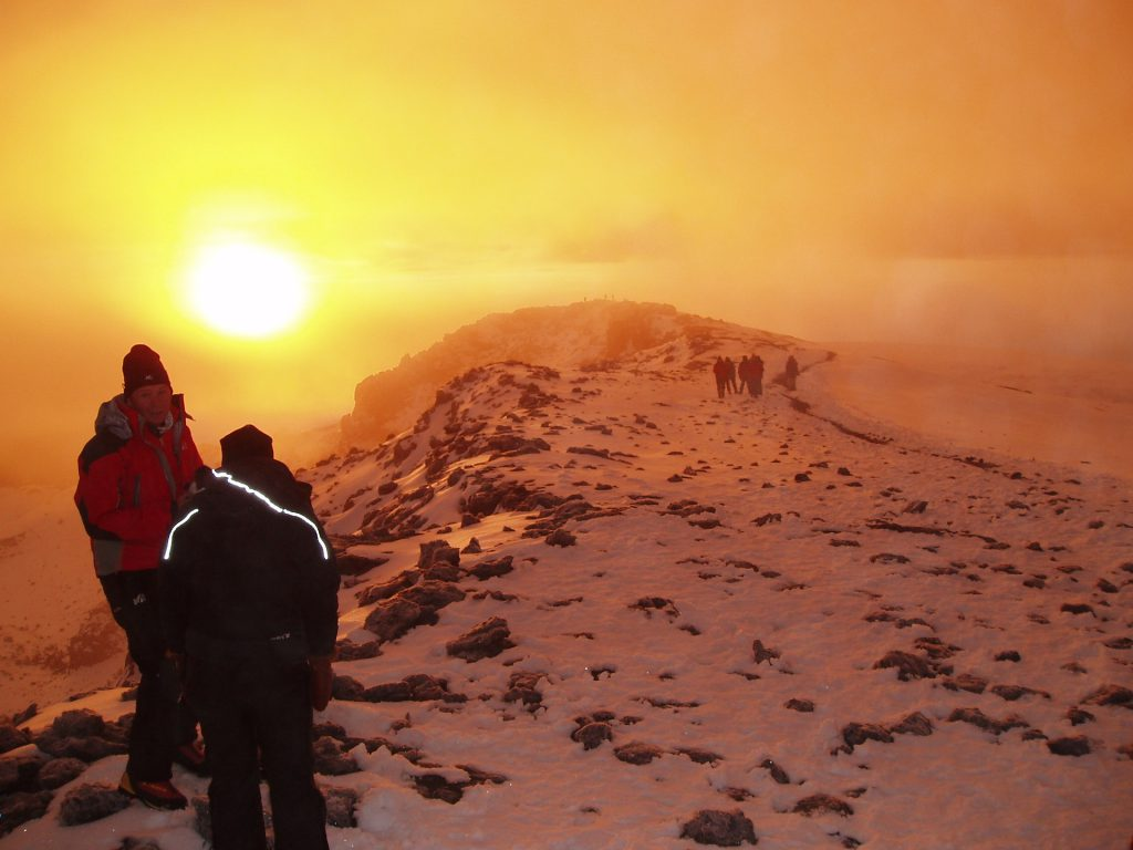 Kilimanjaro summit sunrise