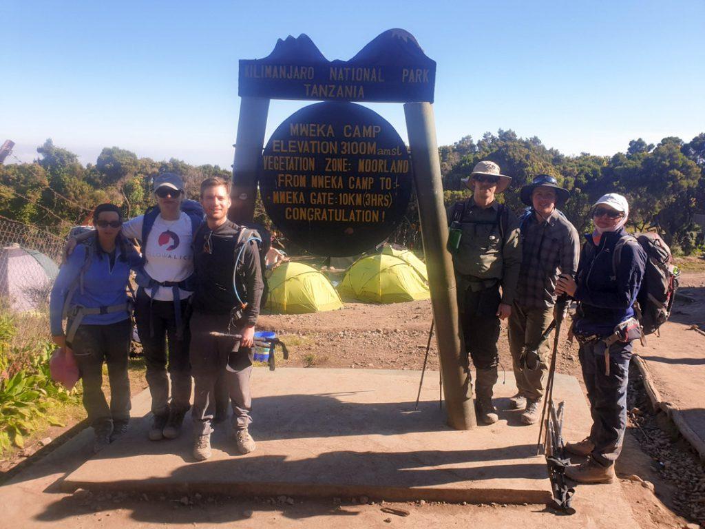 Mweka camp Kilimanjaro