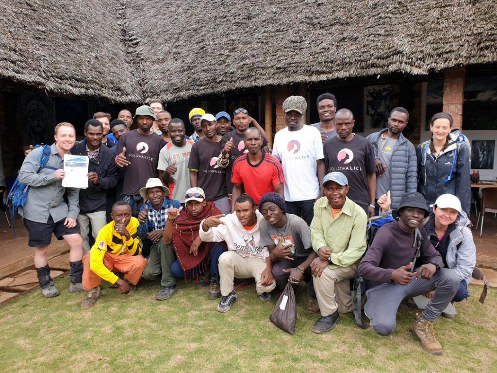 Kilimanjaro team group photo