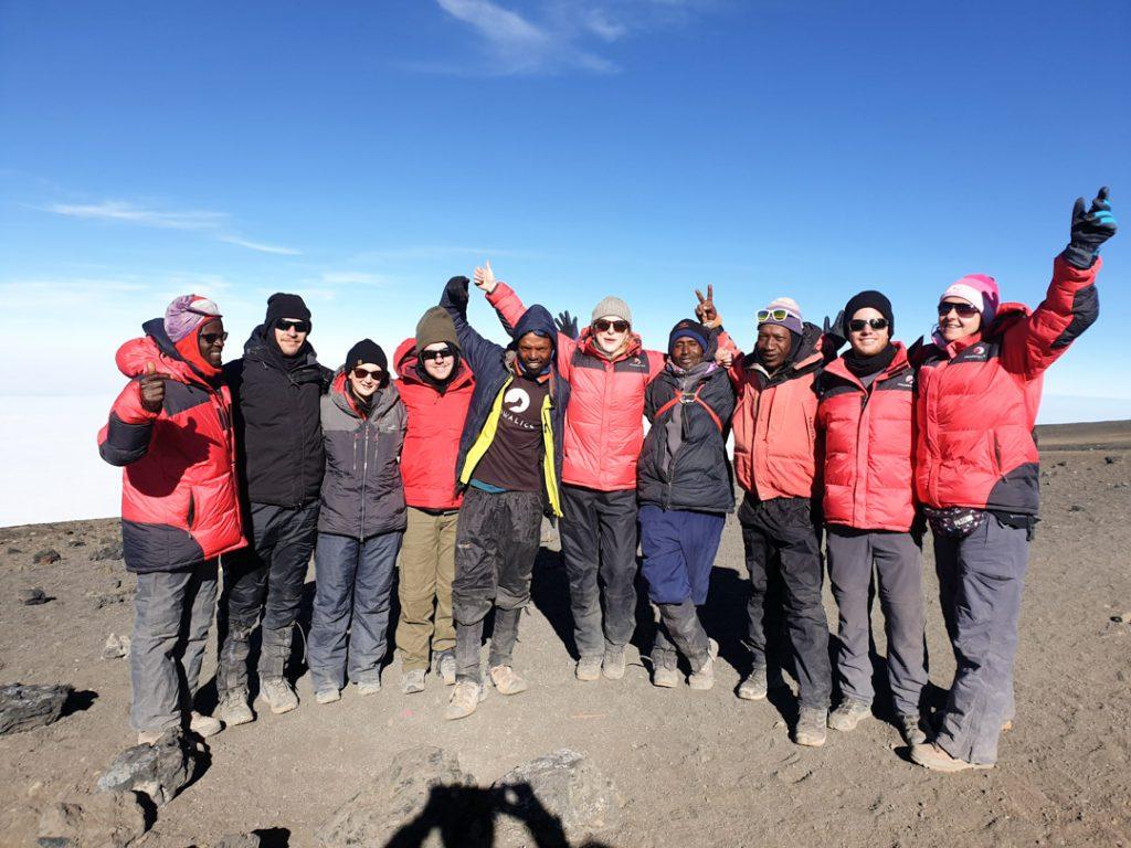 Team summit photo on Kilimanjaro Tash's journal