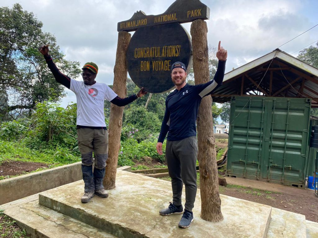 Chris and Nick, August 2020 solo Kilimanjaro climb