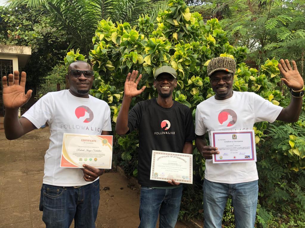 Tanzania FA team coronavirus prevention certificates