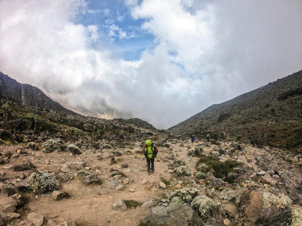 Kilimanjaro lone trekker