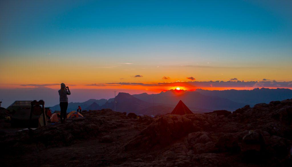 Sunset Karanga Camp Kilimanjaro