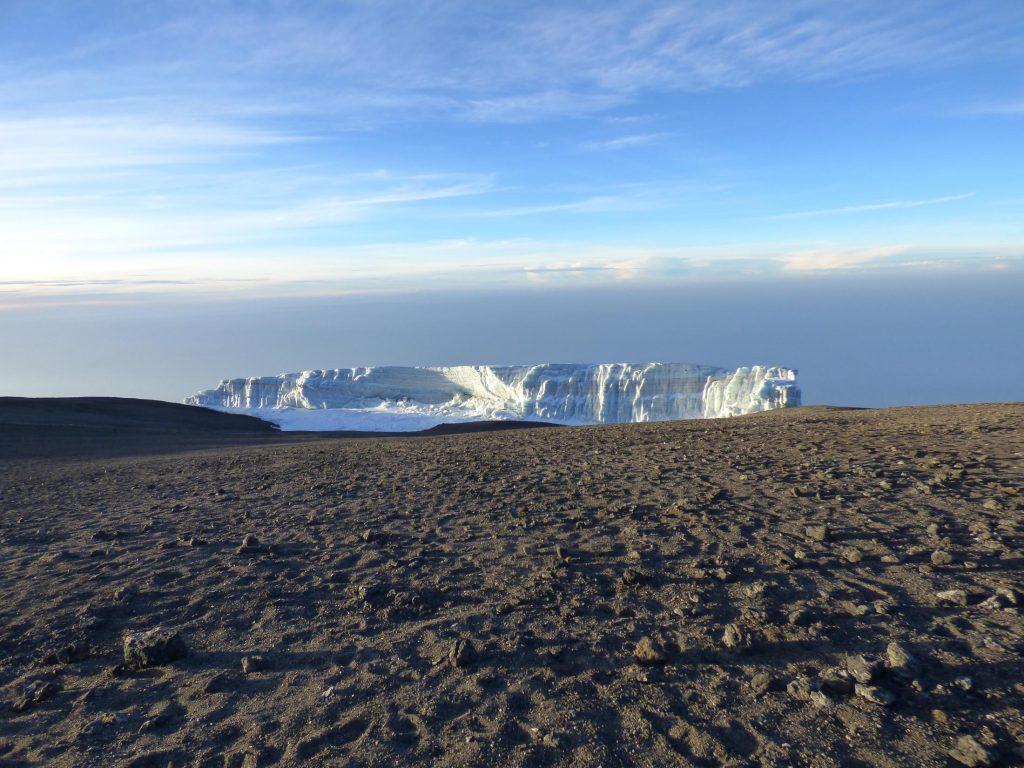 Glacier at the top of Mt Kilimanjaro