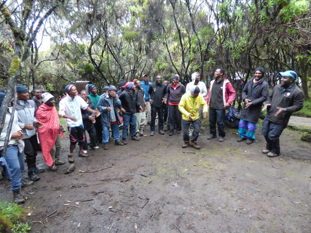 tipping ceremony Kilimanjaro
