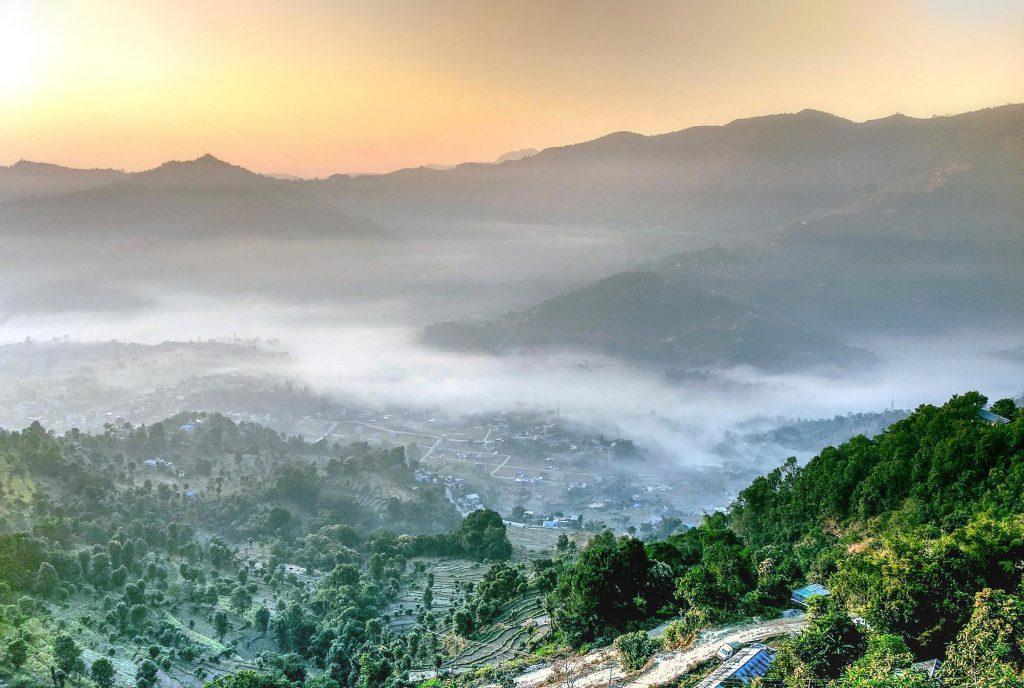 View of Kathmandu Valley in Nepal