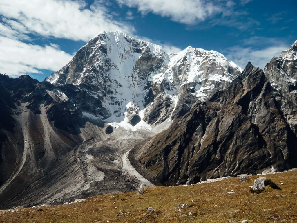 Snow-capped peaks on the Everest Base Camp trek