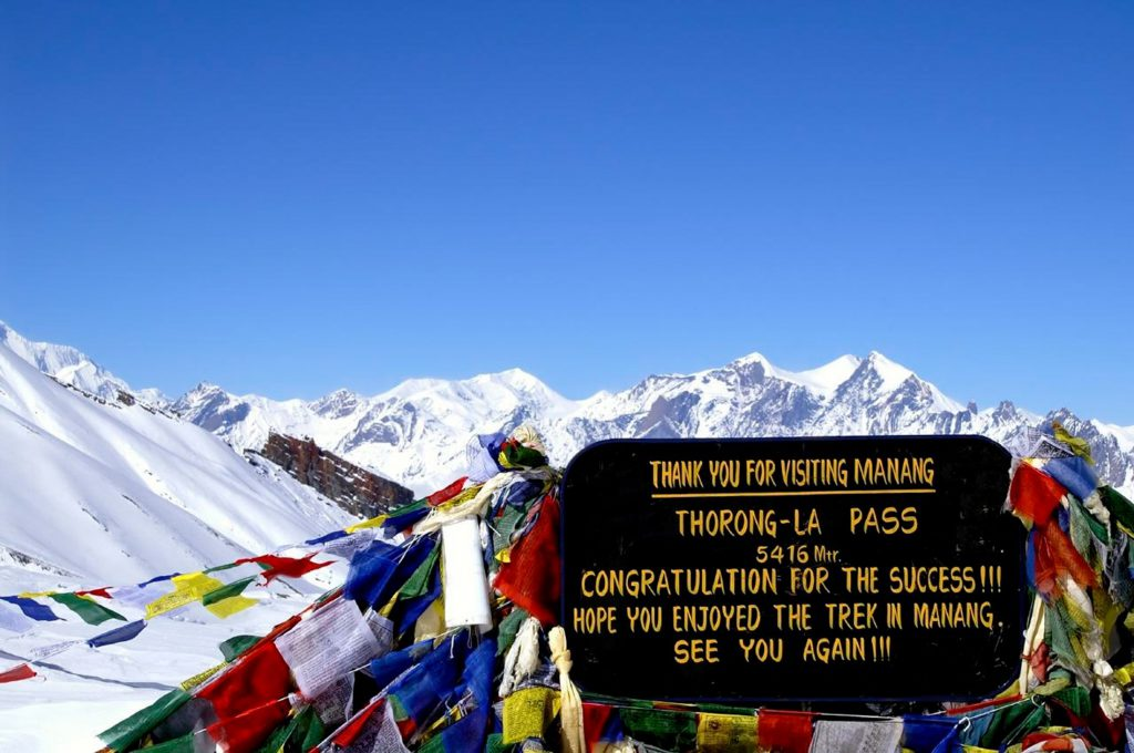 Thorung La Pass Annapurna circuit trek