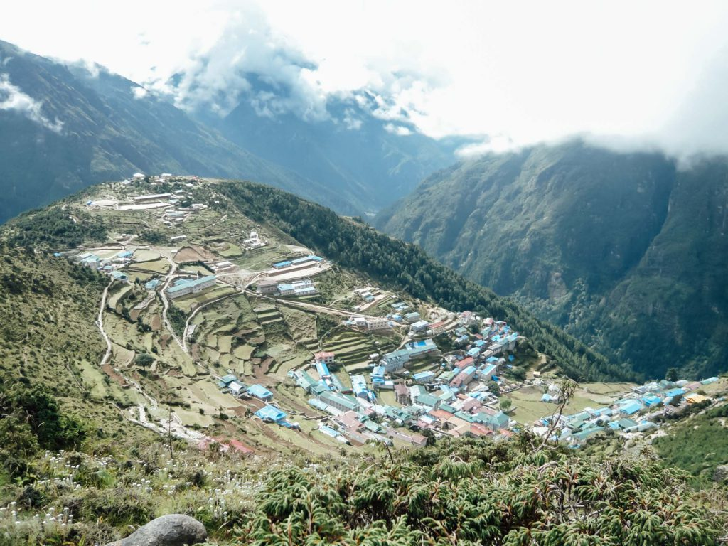 Namche Bazaar Nepal on the way to Everest Base Camp