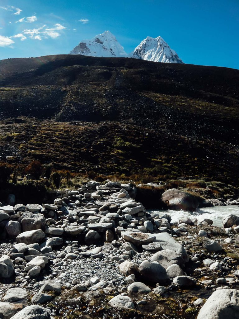 We cross plenty of rivers and streams on the Everest Base Camp trek