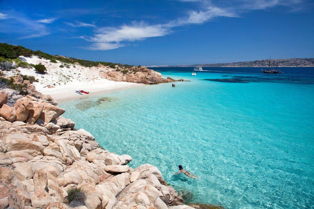 Caprera island in the Maddalena archipelago off the coast of Sardinia, Italy