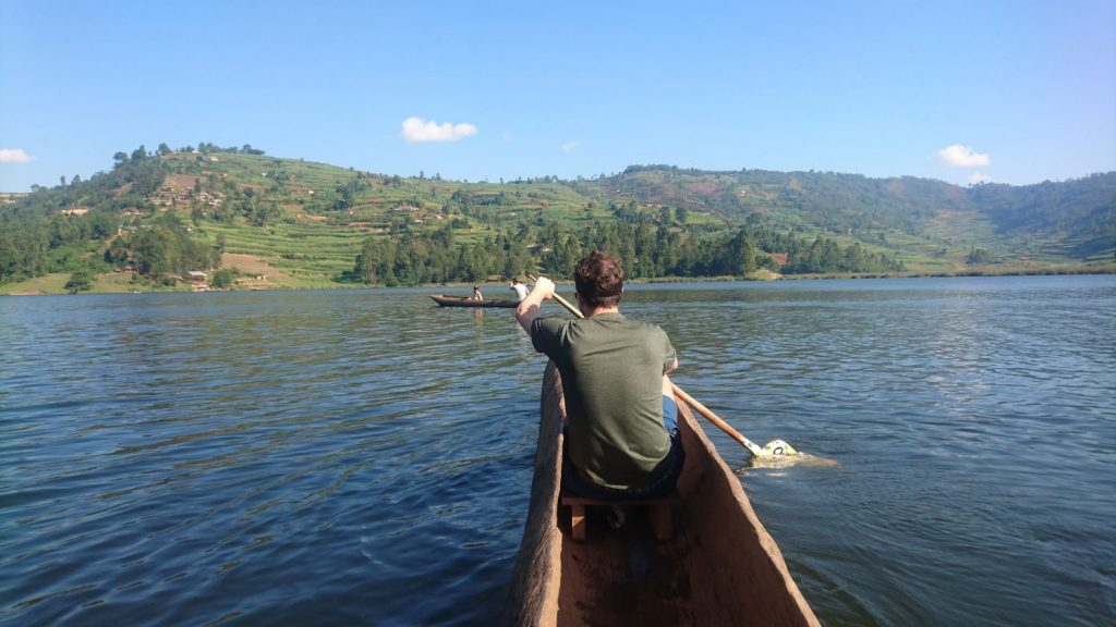 Boat on Lake Bunyonyi