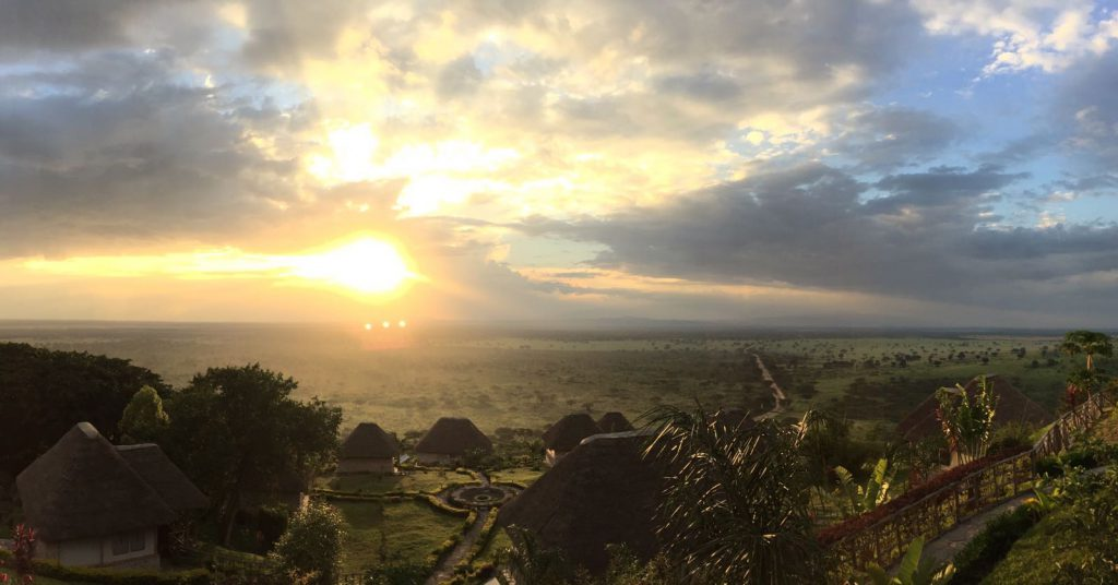 Sunset over Queen Elizabeth National Park