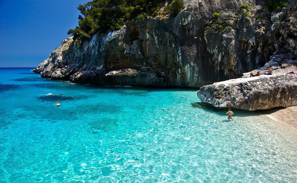 Beach in Sardinia and Corsica