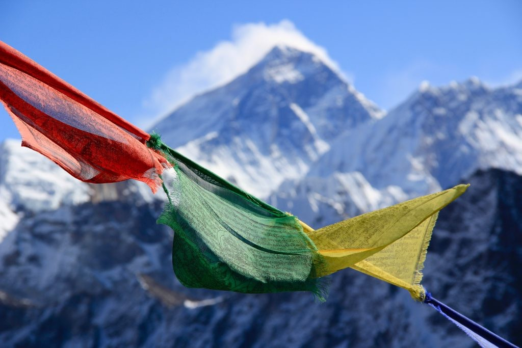 Khumbu Valley and Mount Everest in Nepal