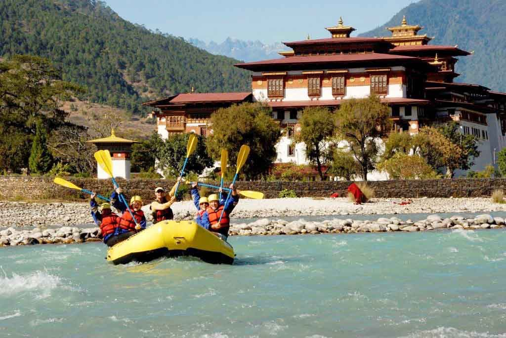 River rafting adventure in Bhutan