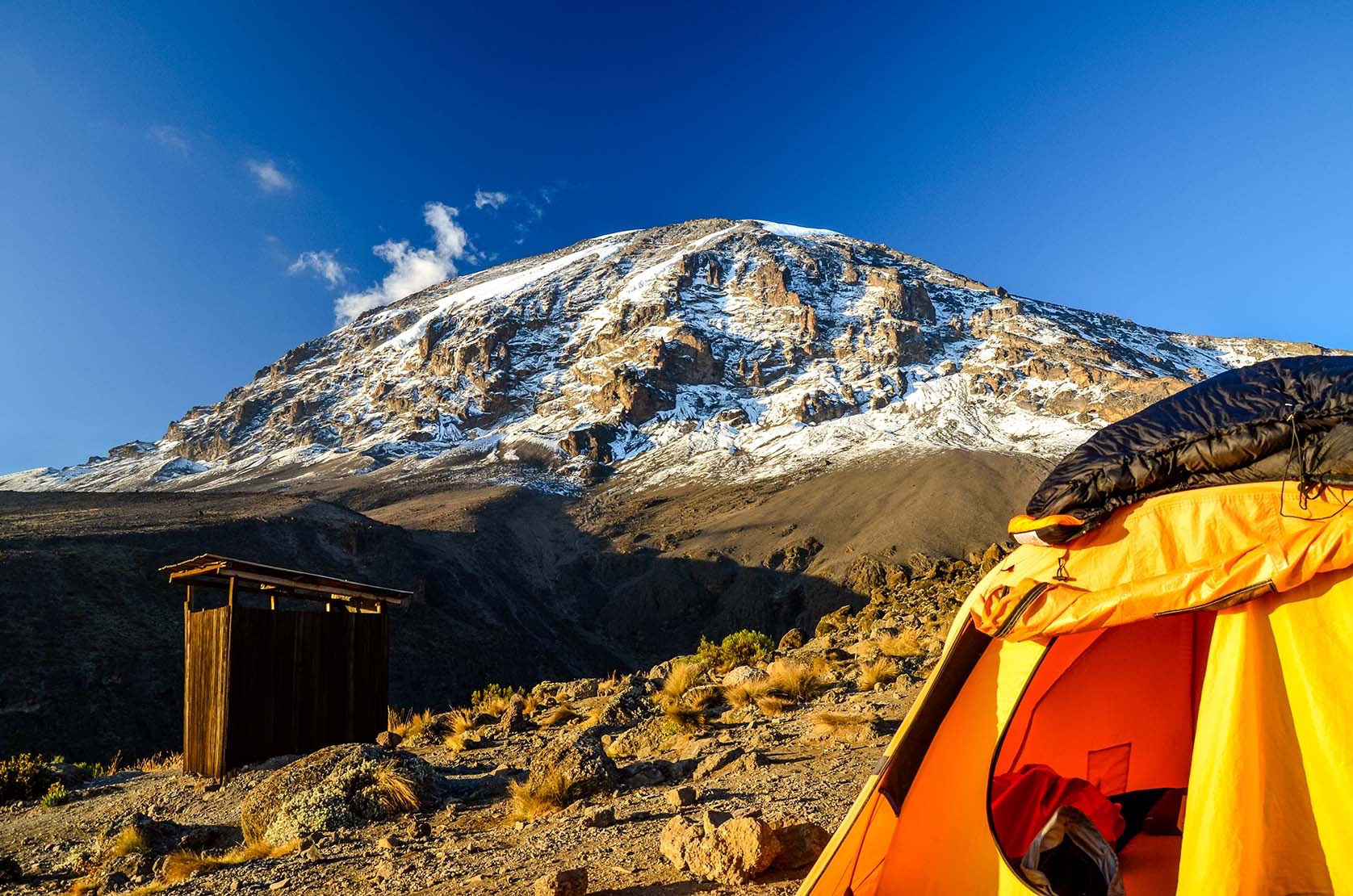 Kilimanjaro campsite and public toilet