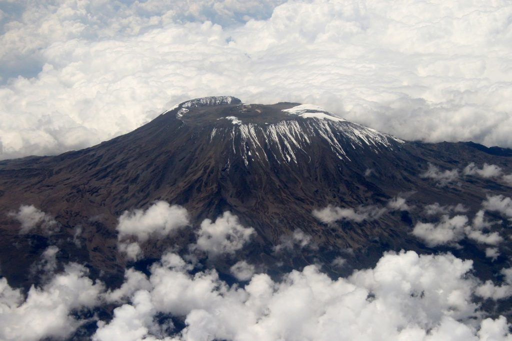 Ariel view of Mount Kilimanjaro