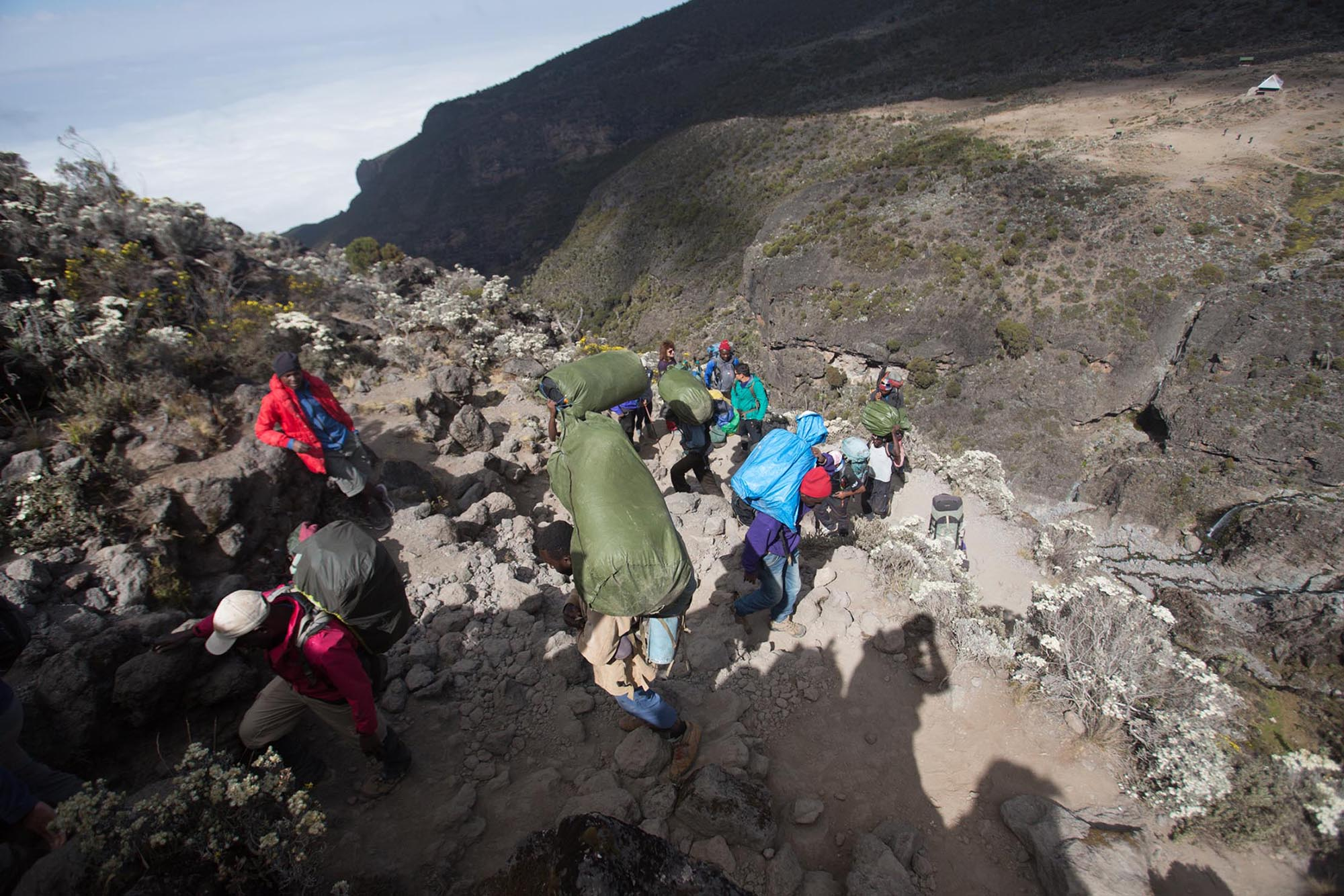 The Follow Alice team climbing and Tipping on Kilimanjaro