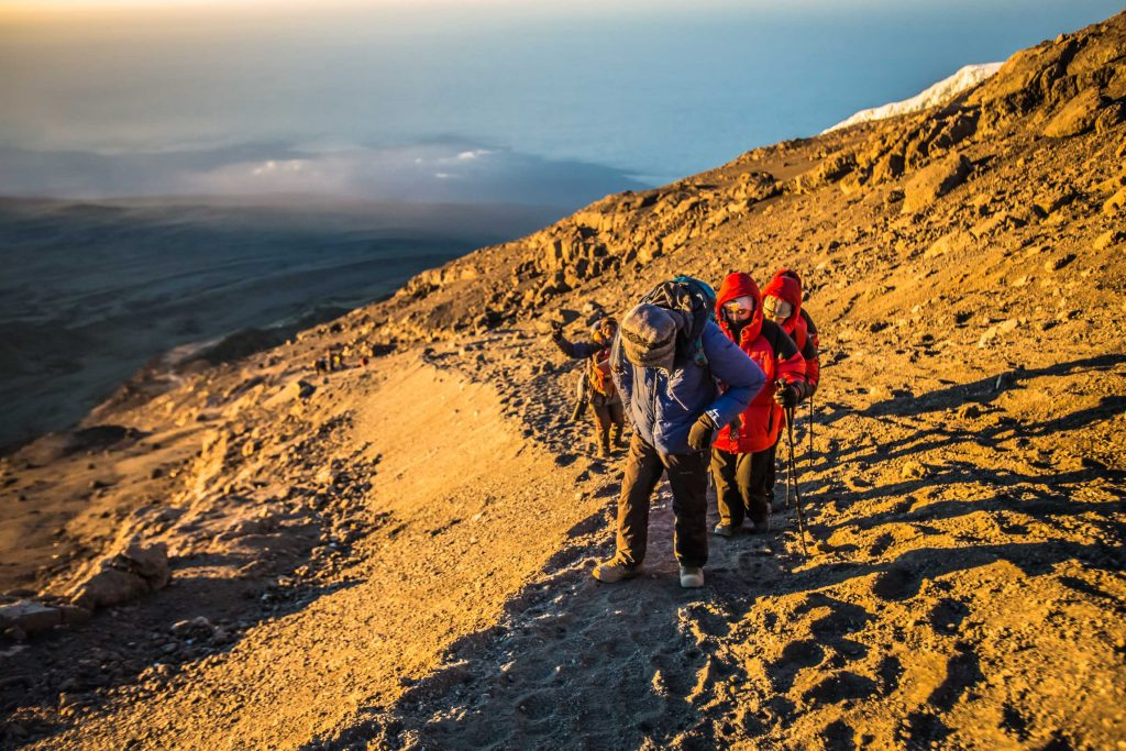 The top part of Kilimanjaro is barren and cold - an adventurer's playground!