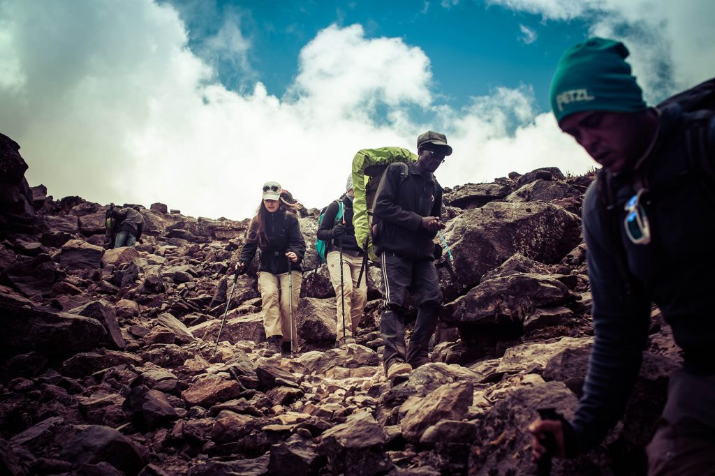 Climb slowly. Climbing Kilimanjaro is that it is not a race.