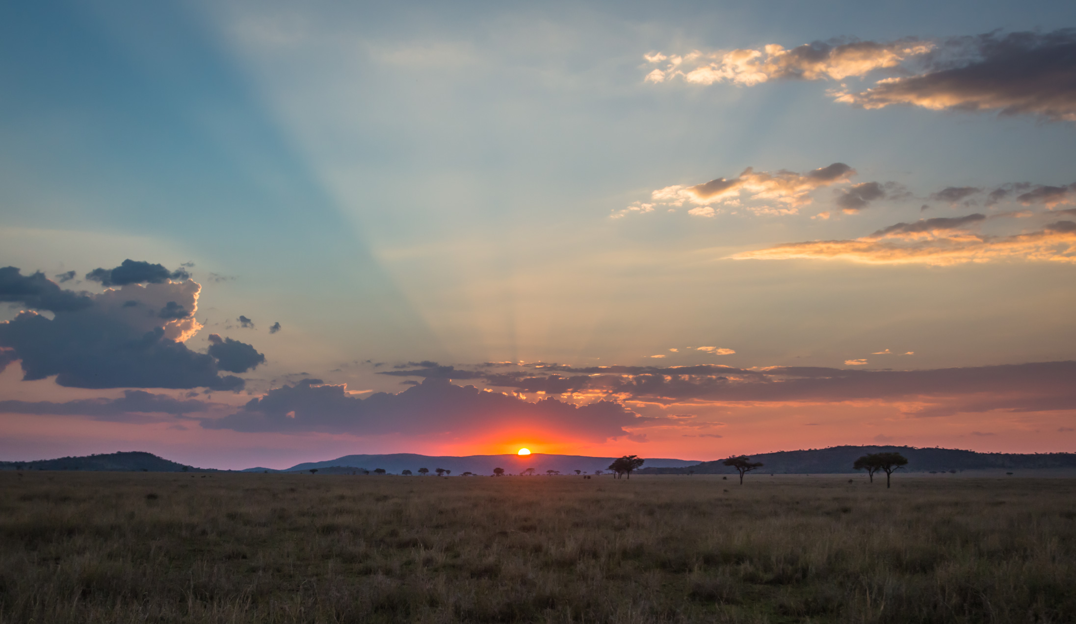 Sunsets like this are not rare in Tanzania