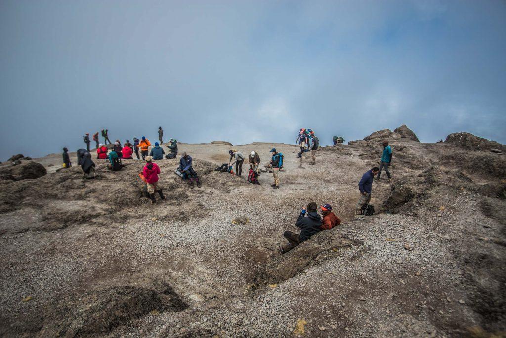 Follow Alice Team taking a rest on Kilimanjaro