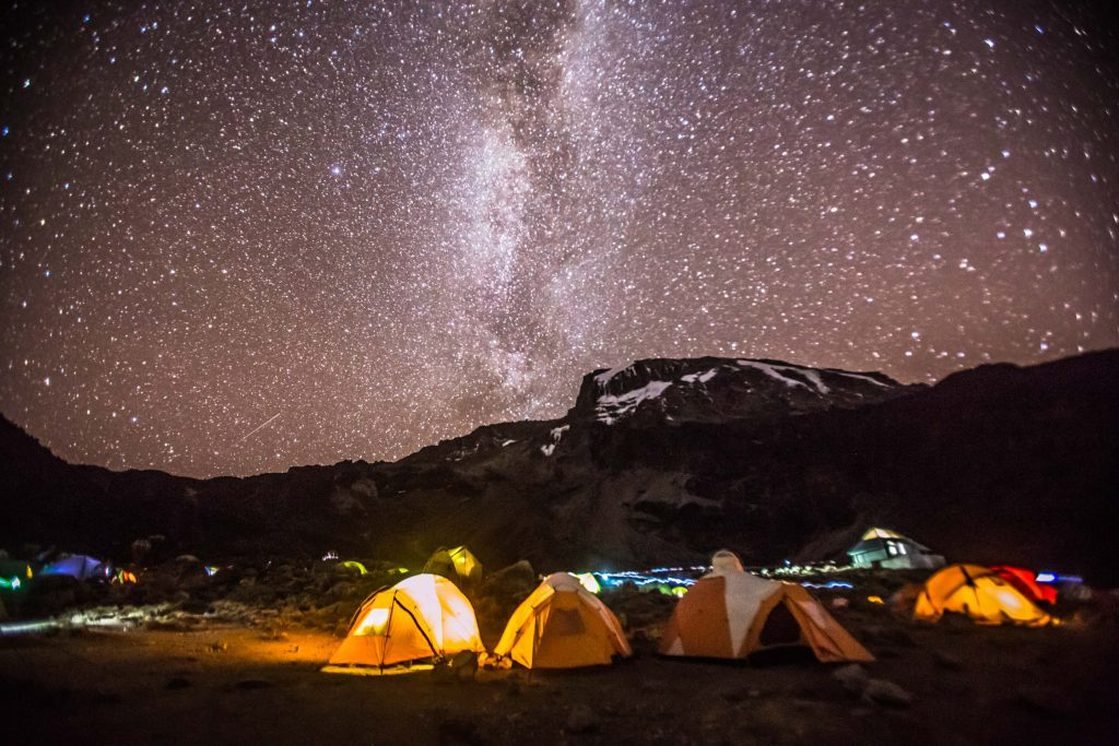 Sleeping under the stars on Kilimanjaro