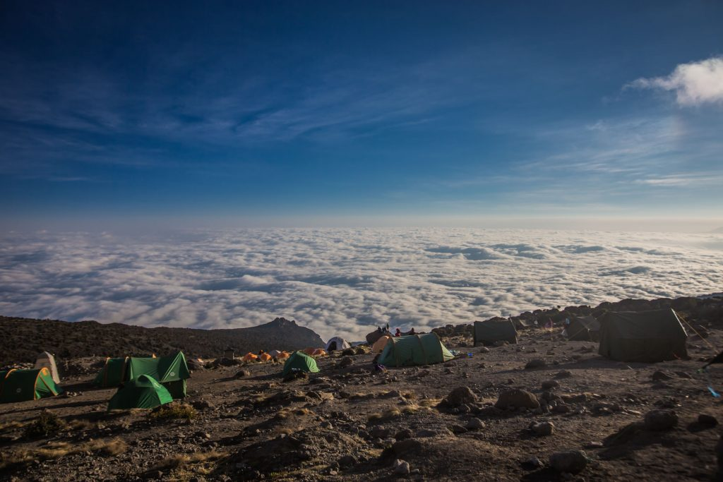 Views from Karanga camp on Kilimanjaro