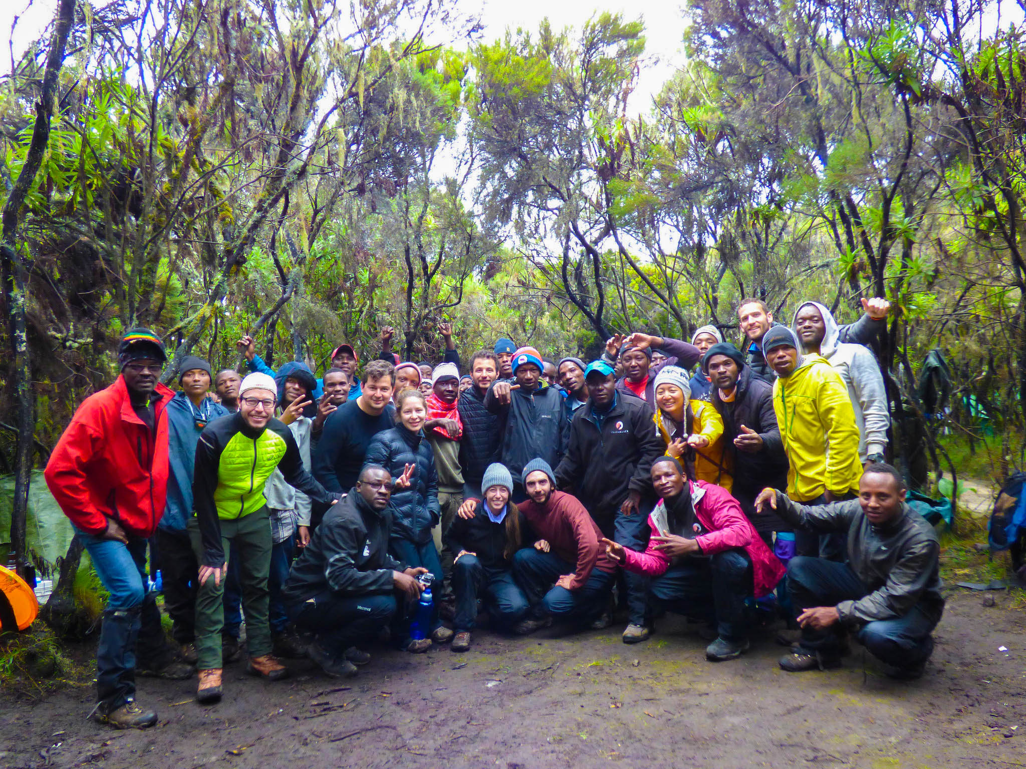 Follow Alice Kilimanjaro climbers and crew all together