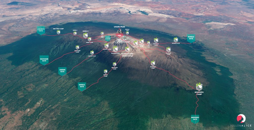 kilimanjaro besteigung vorbereitung karten