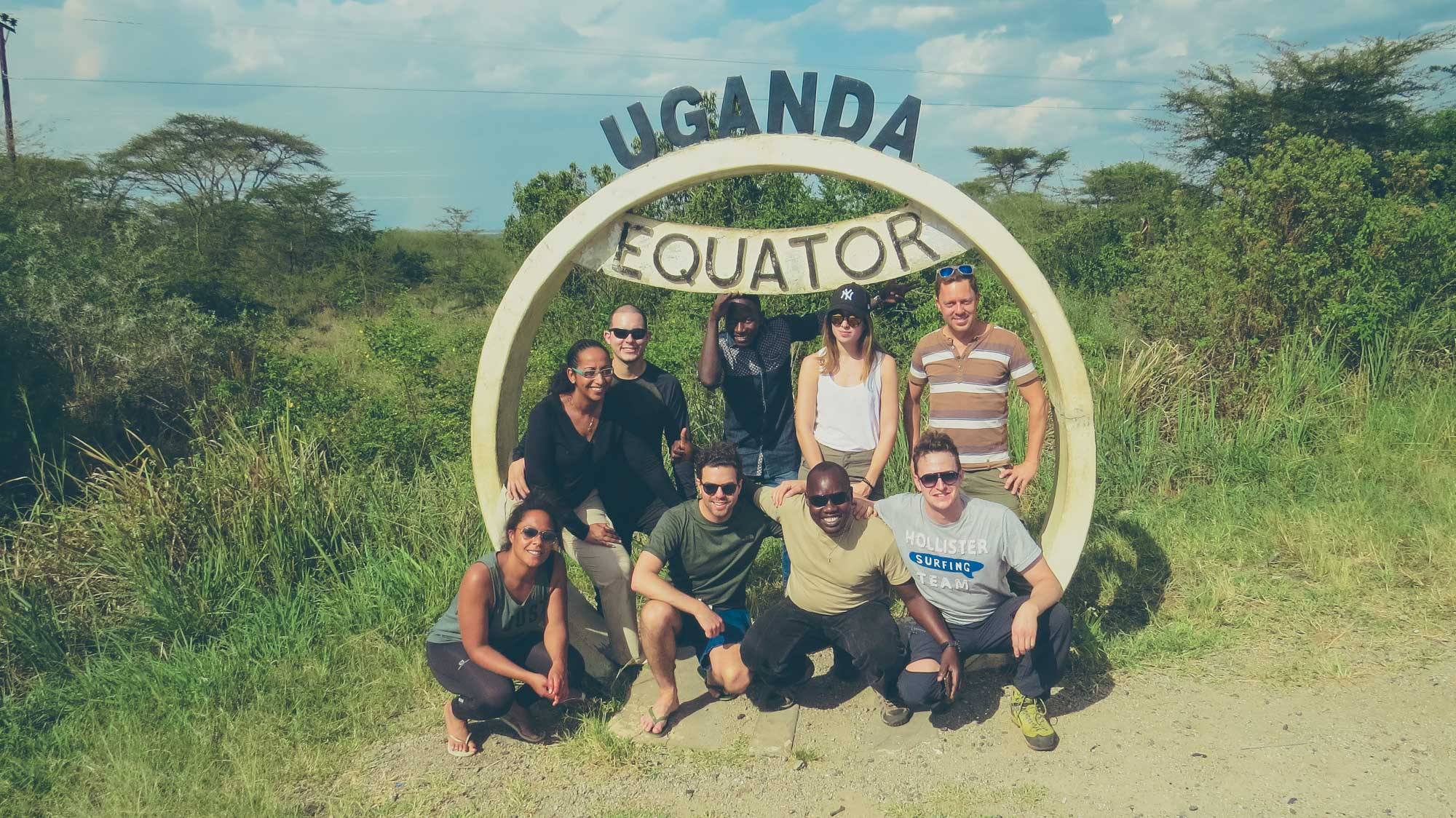At the equator in Uganda