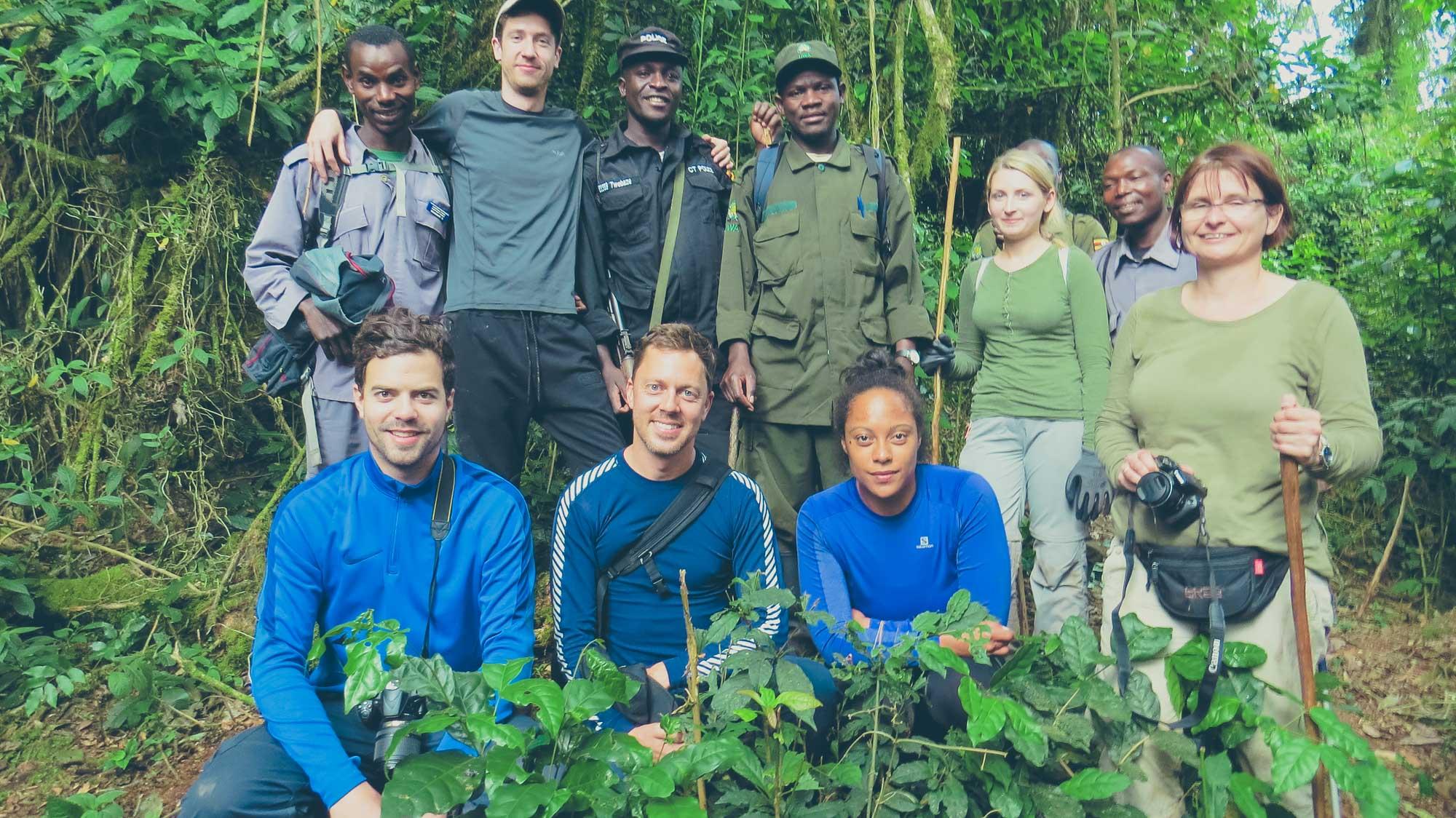 Friends on a Gorilla Trek in Uganda