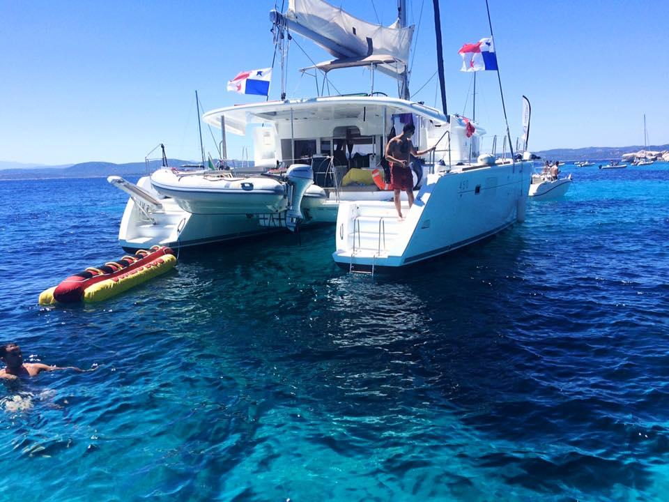 Catamaran in Sardinia