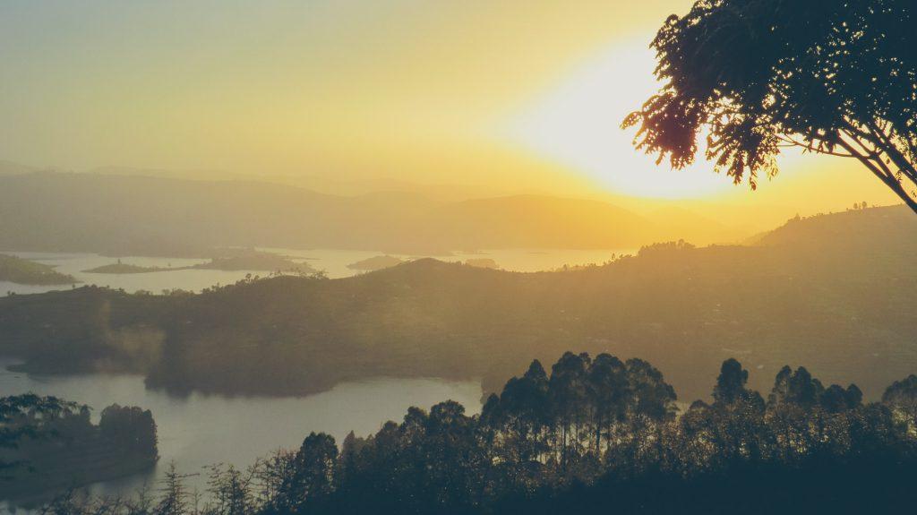 Uganda scenery Lake Bunyonyi