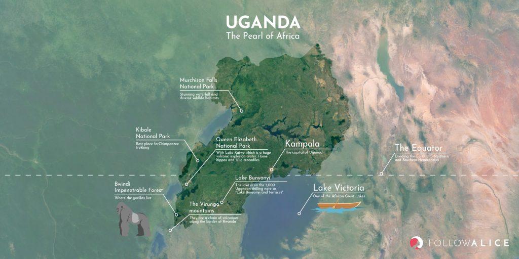 Uganda map - Map of uganda