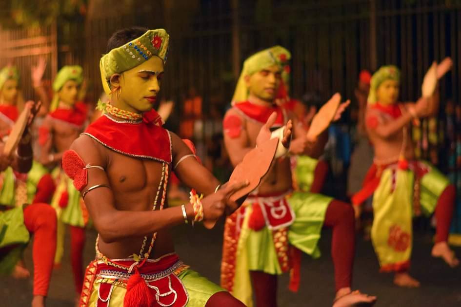 The Kandy Esala procession in Kandy, Sri Lanka