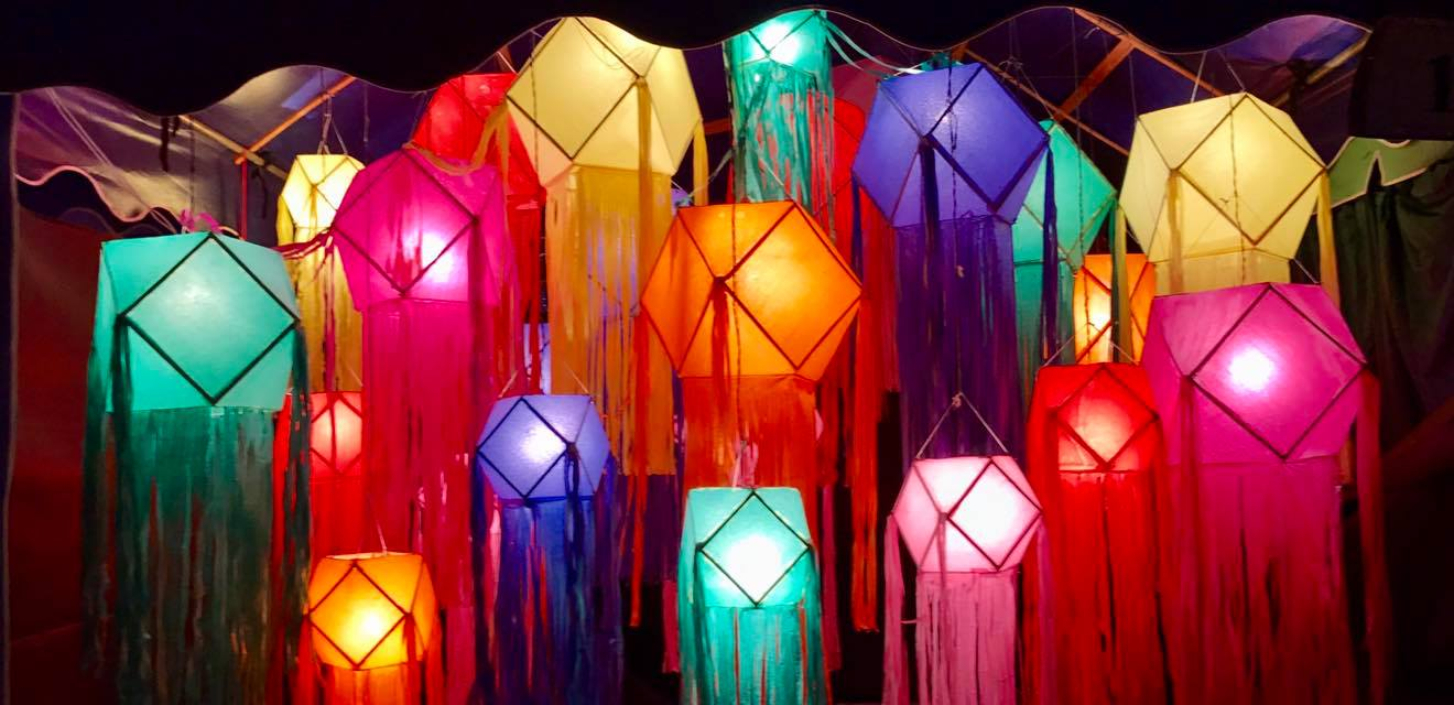 During festivals there are colourful lanterns to be seen everywhere