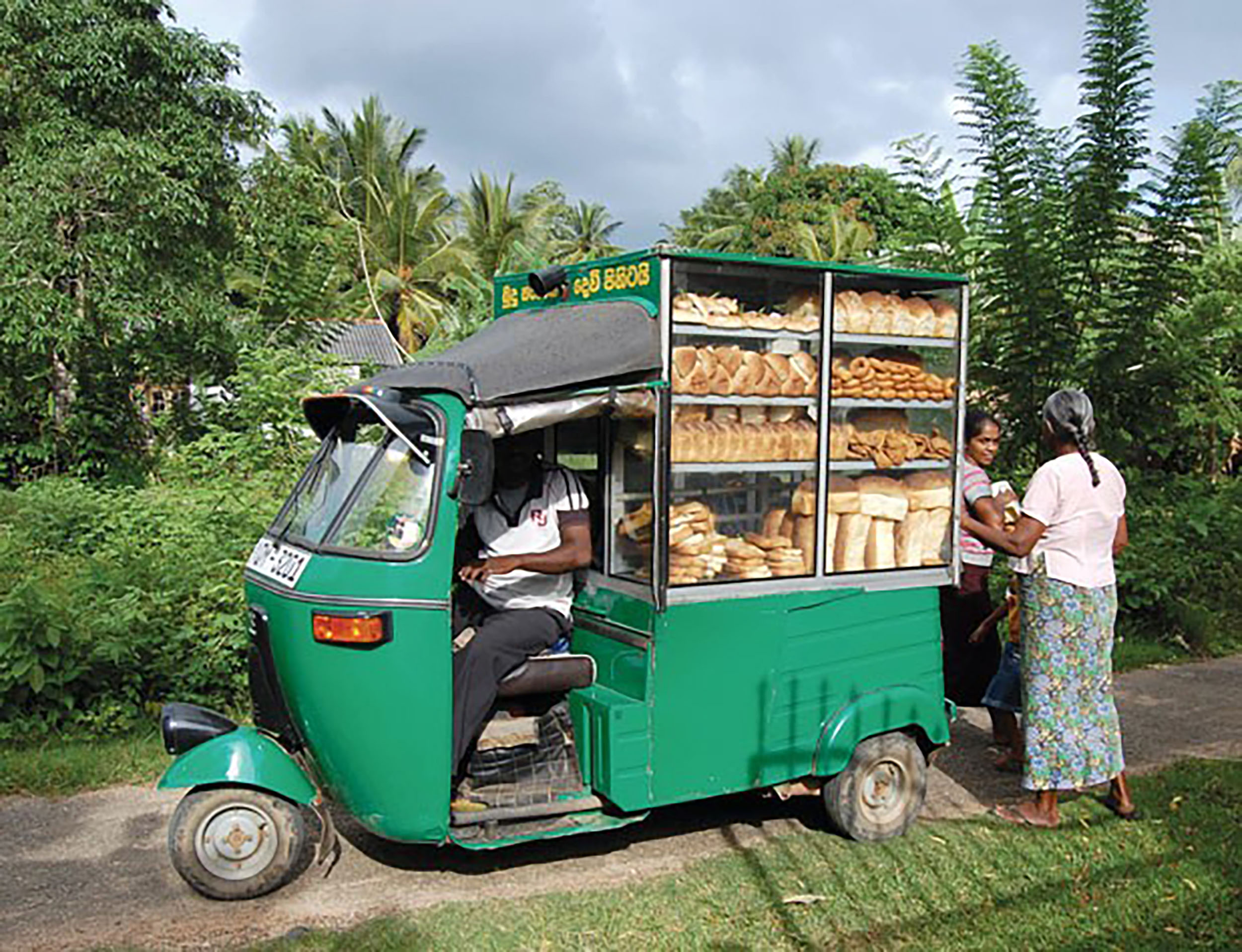 Morning bread delivery in Galle