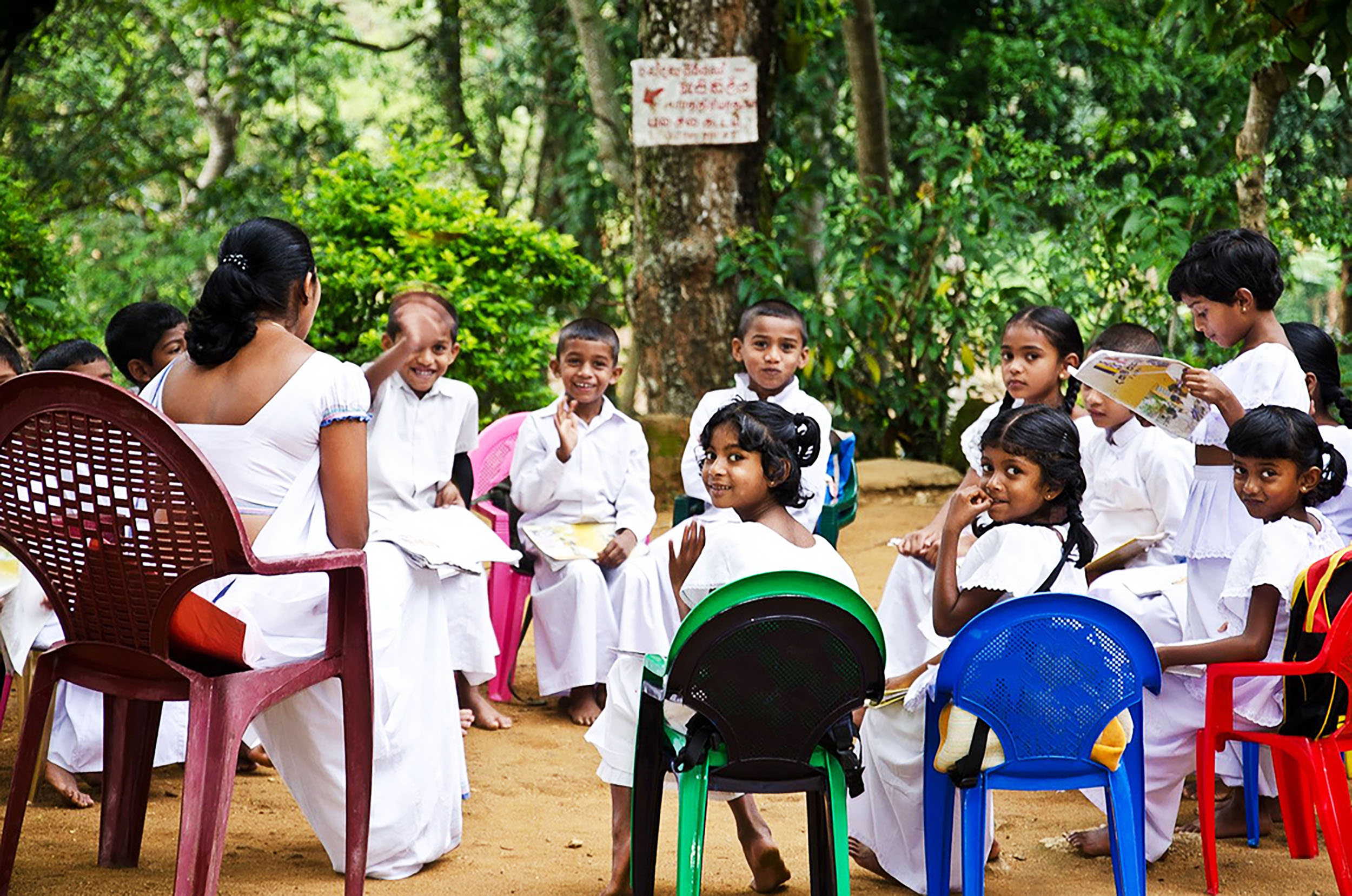 Sri Lanka has a literacy rate of 96%