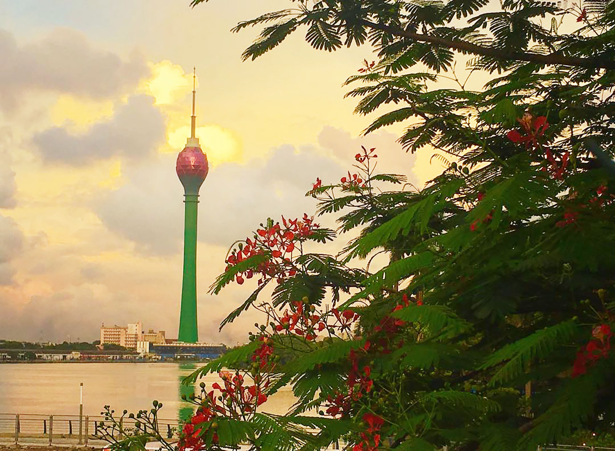 The Colombo Lotus Tower at sunset