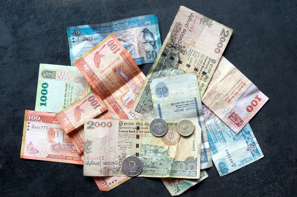 Colourful Sri Lankan rupees