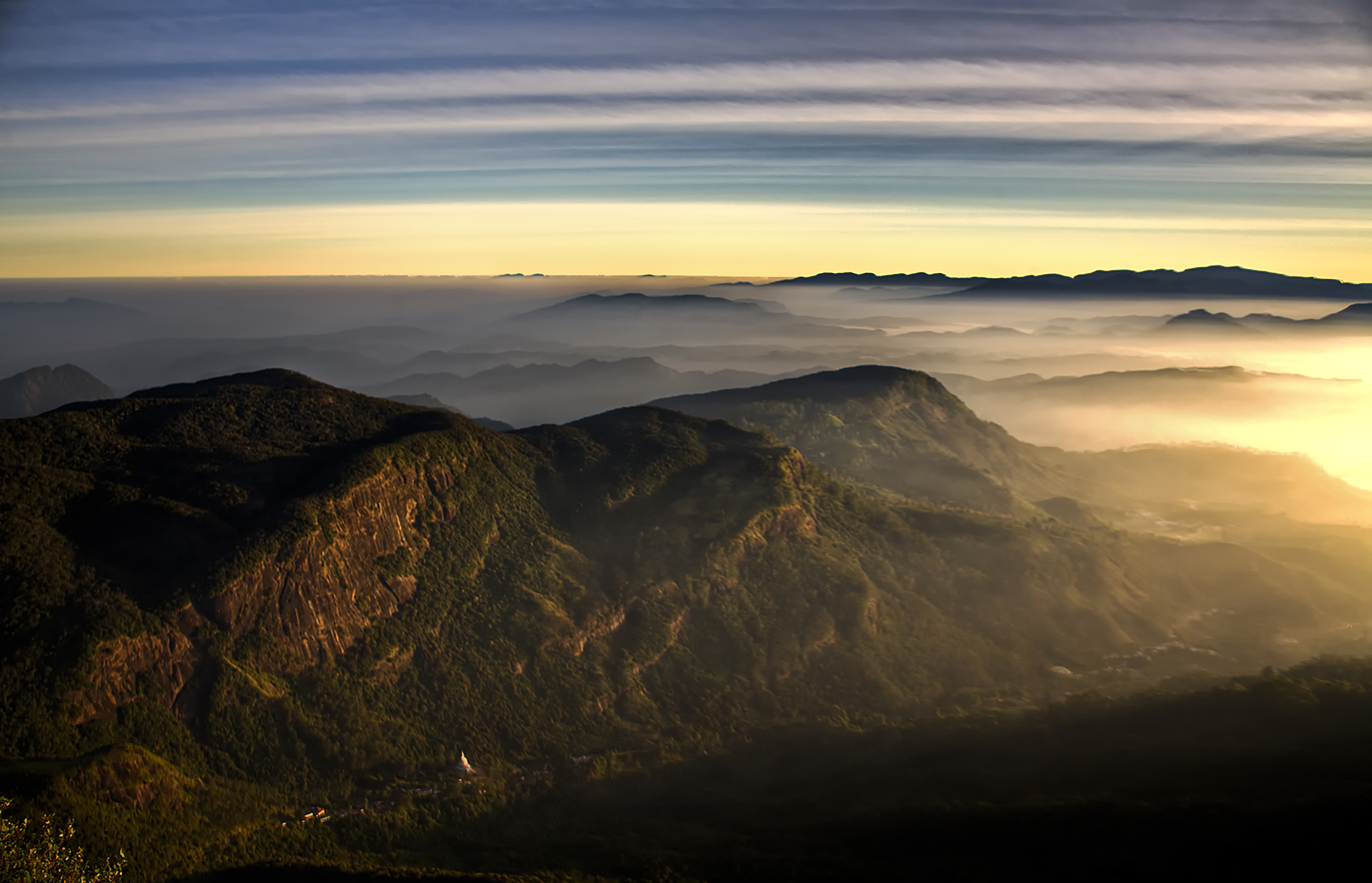 View from Adam's Peak at sunrise