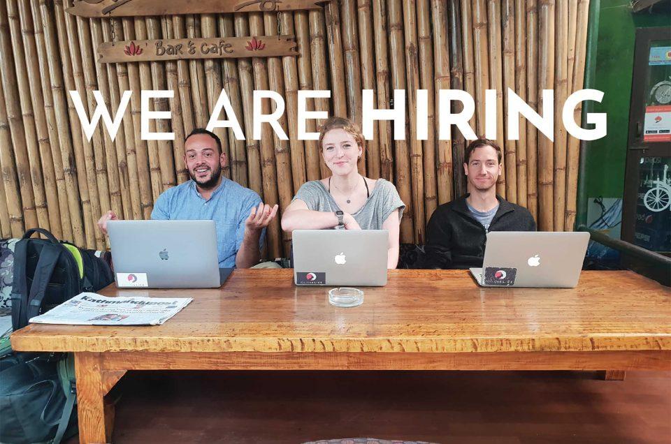We are hiring! NEW job openings